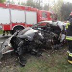 Śmiertelny wypadek w Krzyżówce - Fot. KMPSP NS