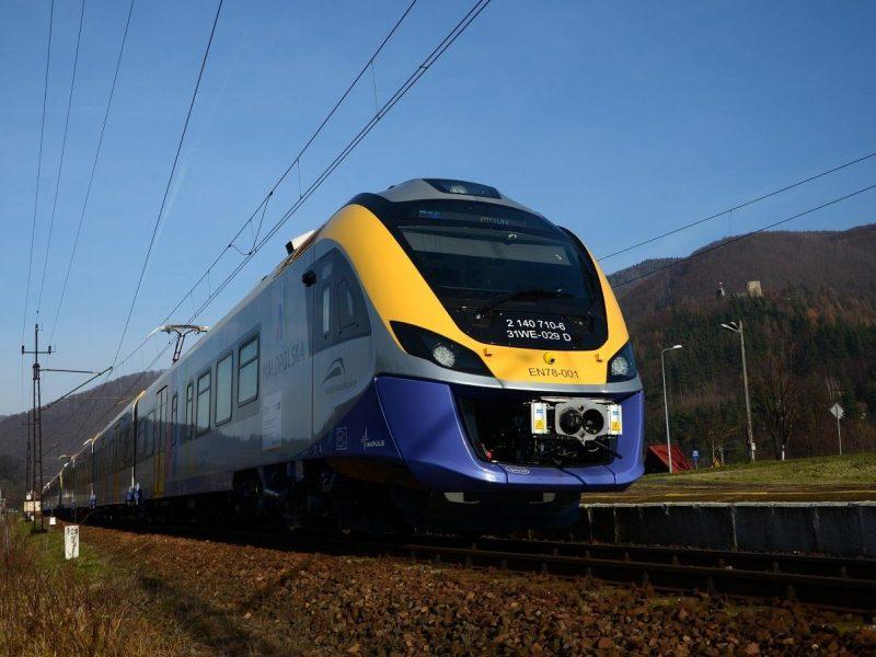 Połączebue kolejowe Nowy Sącz - Krynica-Zdrój - fot. UMWM