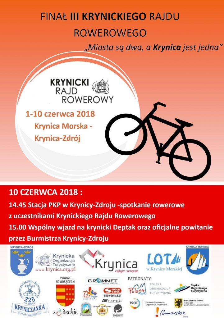 10 czerwca: Finał III Krynickiego Rajdu Rowerowego