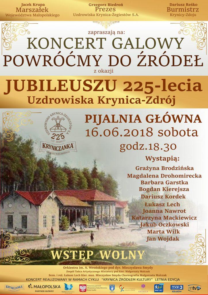 Powróćmy do Źródeł – Koncert Galowy z okazji 225-lecia Uzdrowiska Krynica-Zdrój