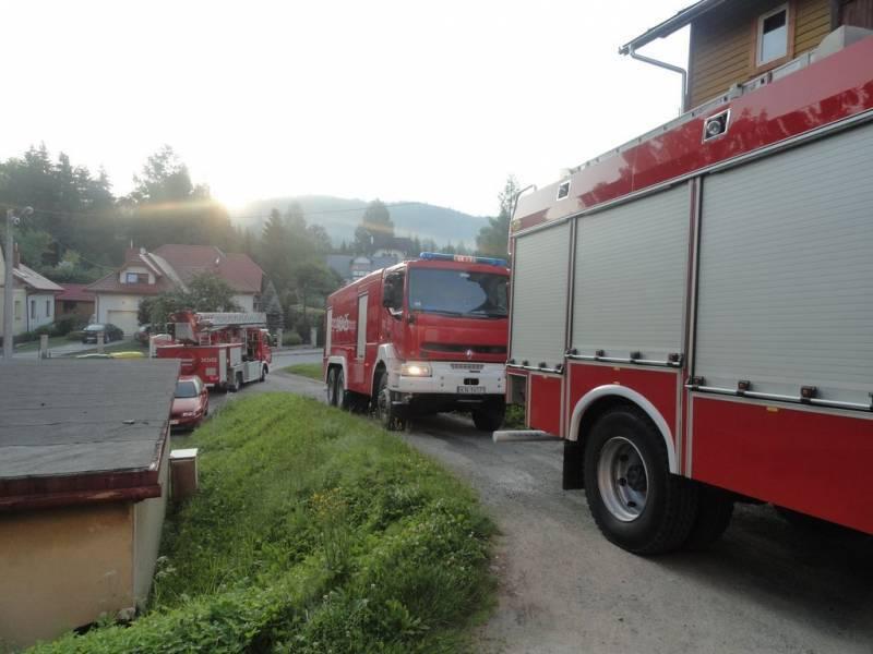 Krynica-Zdrój – Pożar w mieszkaniu przy ul. Źródlanej, ewakuowano 18 osób