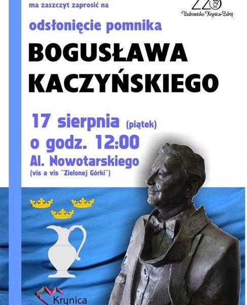 Krynica-Zdrój - pomnik p. Bogusława Kaczyńskiego