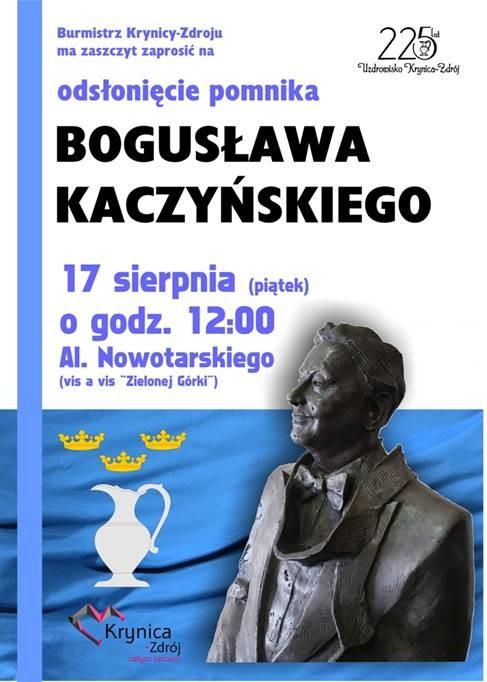 Odsłonięcie pomnika p. Bogusława Kaczyńskiego w Krynicy
