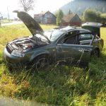 Zderzenie dwóch samochodów osobowych w Krynicy - fot. KMPSP Nowy Sącz