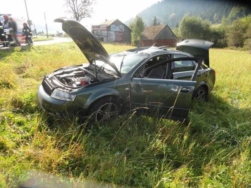 Krynica-Zdrój: Zderzenie dwóch samochodów osobowych