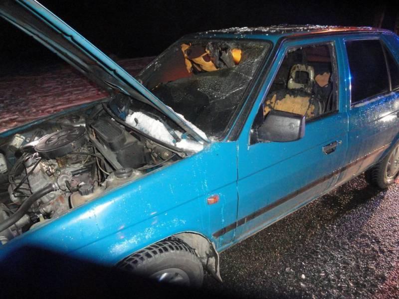Pożar samochodu osobowego w Mochnaczce Wyżnej