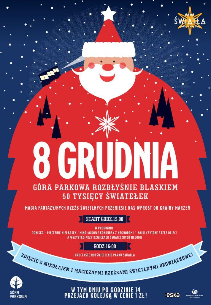 8 grudnia: Spotykaj się na szczycie Góry Parkowej z Świętym Mikołajem