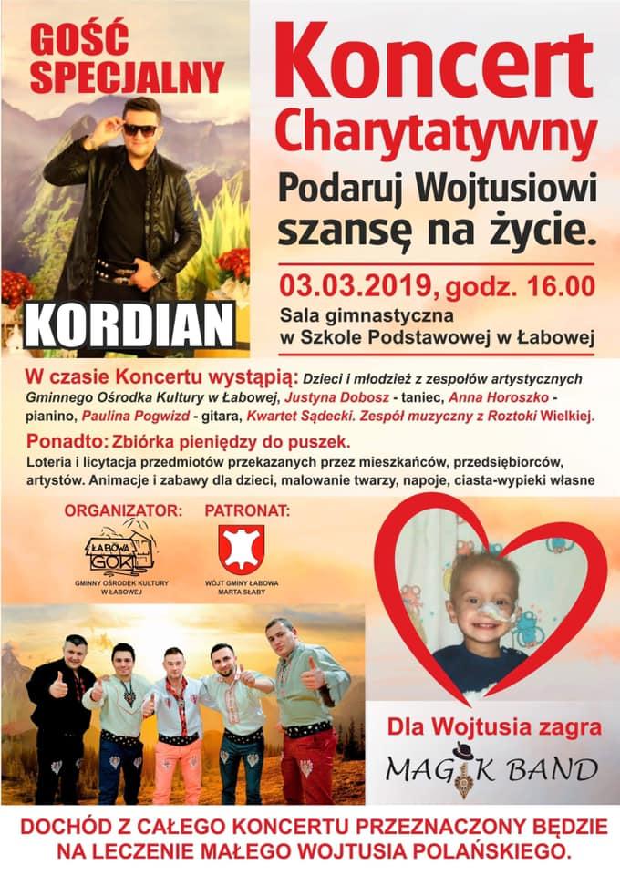 W niedziele w Łabowej zagrają dla chorego Wojtusia!