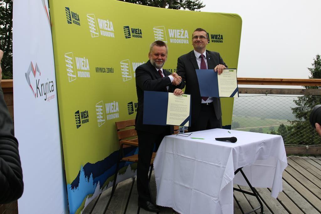 Słotwiny Arena i Gmina Krynica-Zdrój podpisały list intencyjny o wspólnych działaniach promocyjnych