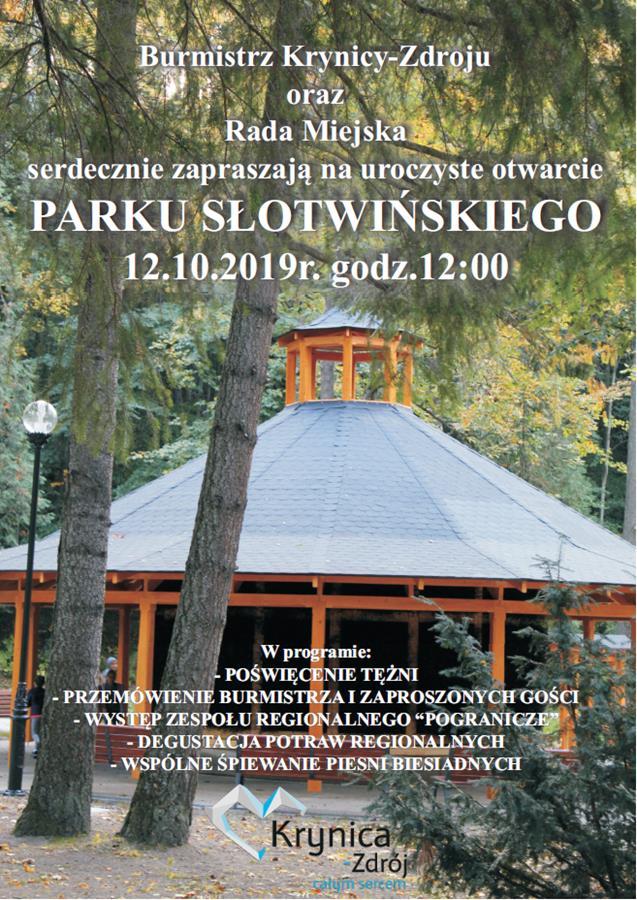 Uroczyste otwarcie Parku Słotwińskiego