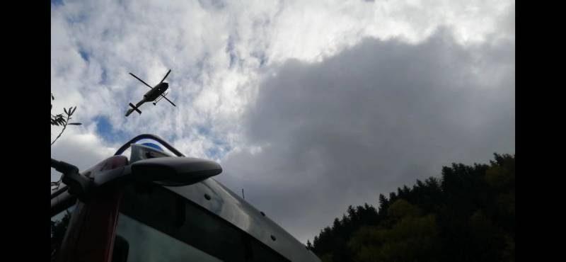 Śmigłowiec LPR - fot. KM PSP Nowy Sącz