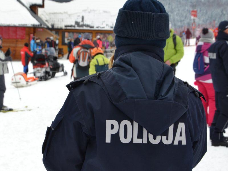 Sadeccy policjanci na stoku w Krynicy - foto. KMP Nowy Sącz