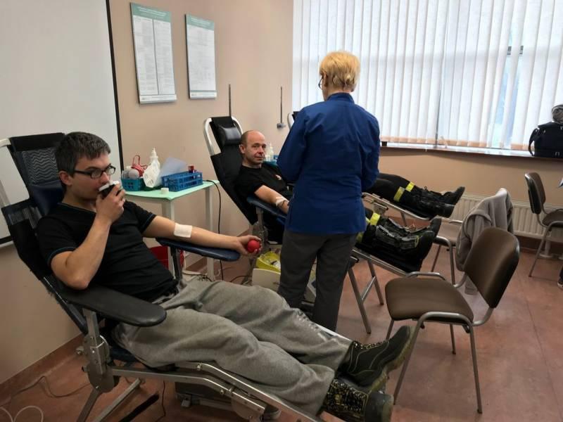 Akcja poboru krwi - fot, KMPSP Nowy Sącz