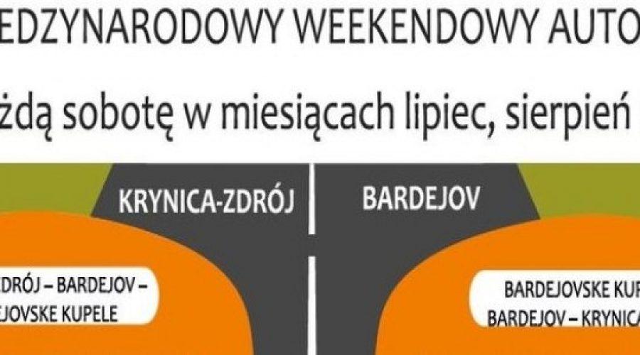Sobotnie połączenia autobusowe pomiędzy Krynicą-Zdrojem a słowackim Bardejovem