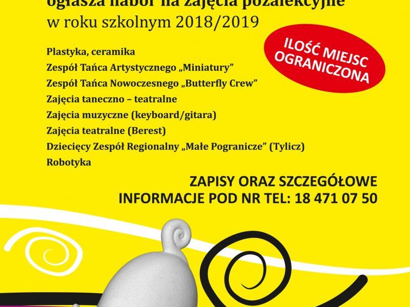 Centrum Kultury w Krynicy-Zdroju - Nabór na zajęcia pozalekcyjne