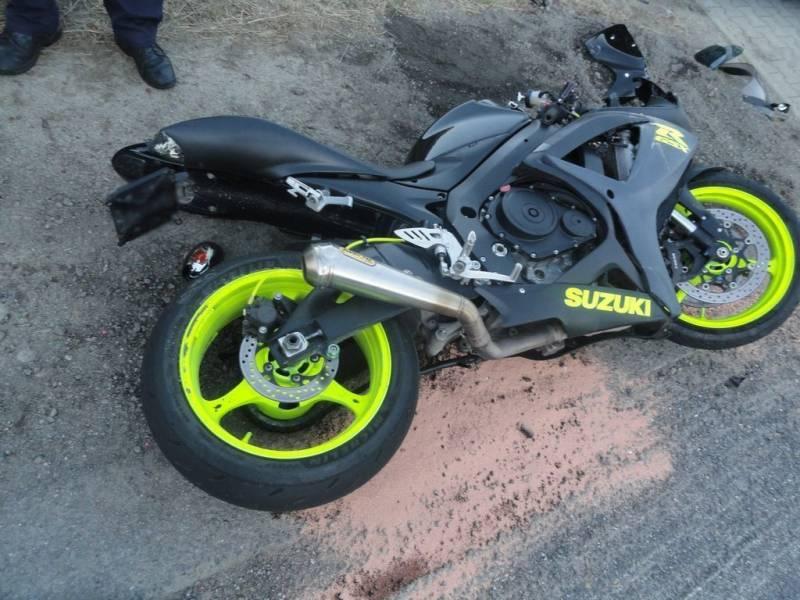 W Roztoce Wielkiej doszło do wypadku z udziałem motocyklisty