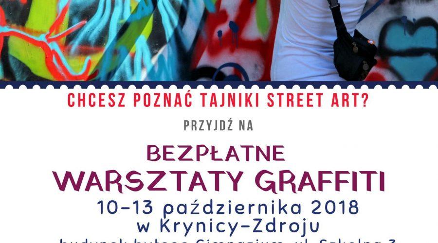 10-13 październik: Bezpłatne warsztaty graffiti dla młodzieży