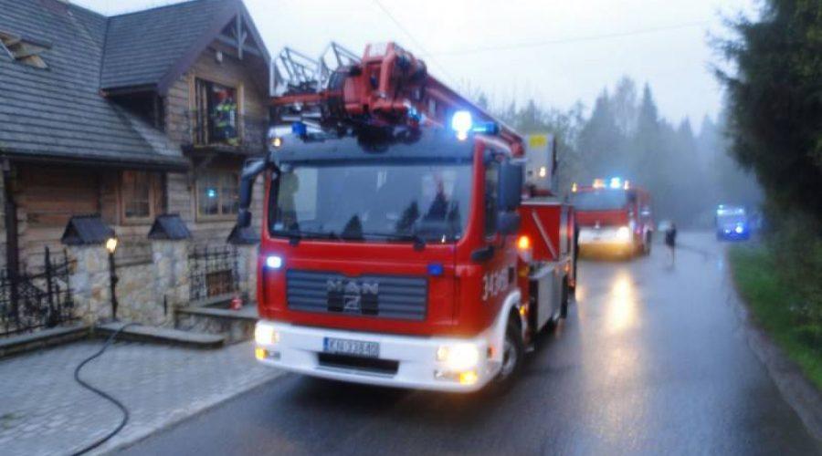 Krynica-Zdrój. Pożar w drewnianym domu przy ul. Zieleniewskiego