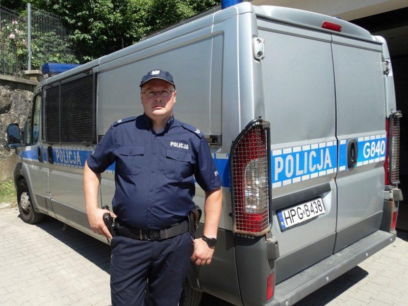 st. sierż. Zbigniew Bawełkiewicz - fot. KMP Nowy Sącz