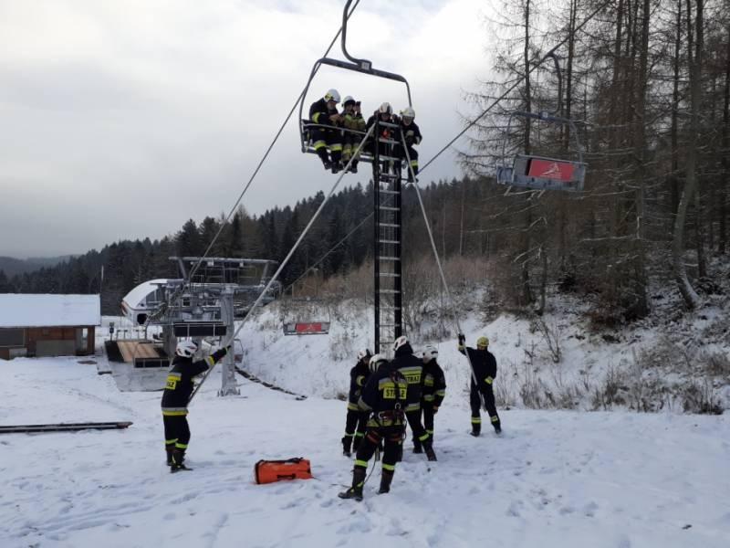Krynica Zdrój. Ćwiczenia z ewakuacji kolei