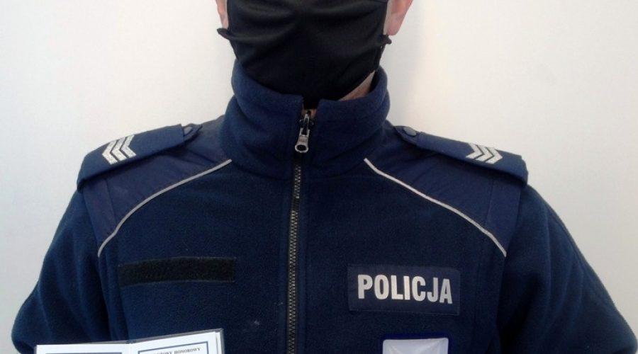 Krynicki policjant-krwiodawca wyróżniony przez Ministra Zdrowia