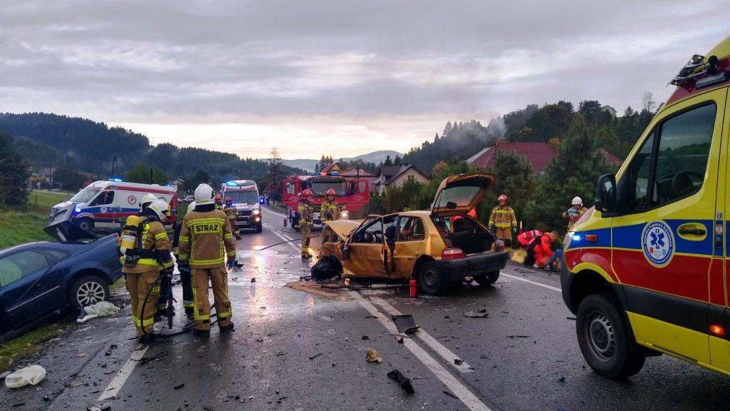 Nowa Wieś. Wypadek na drodze krajowej nr 75
